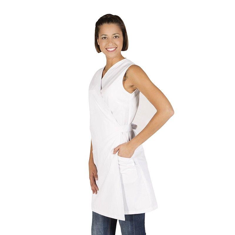 Blusa sanitaria de mujer sin mangas