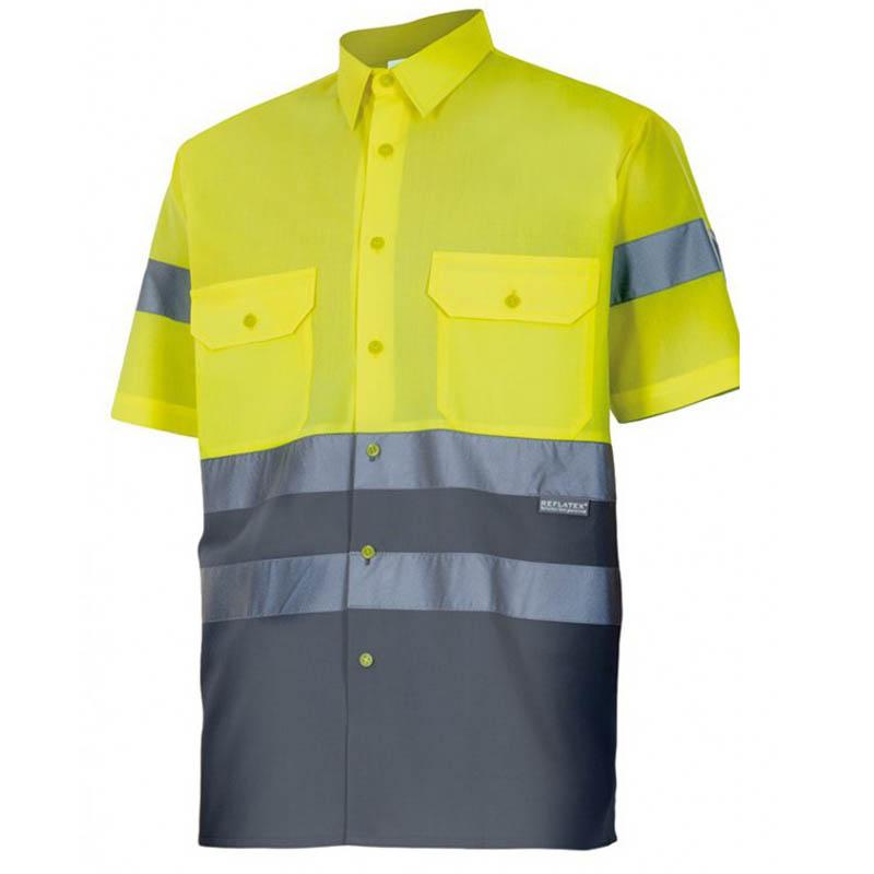 Camisa 142 bicolor de alta visibilidad manga corta velilla