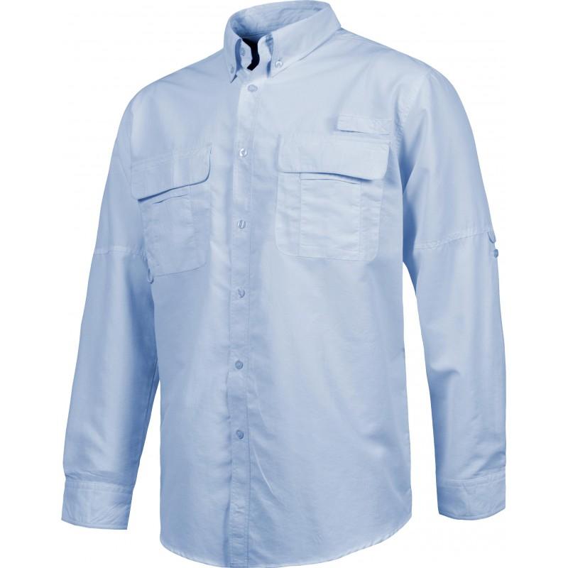 Camisa b8500 de manga larga rejilla en la espalda workteam