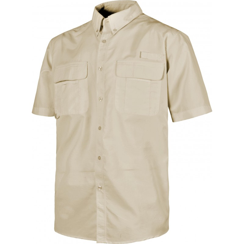 Camisa b8510 de manga cprta rejilla en la espalda workteam