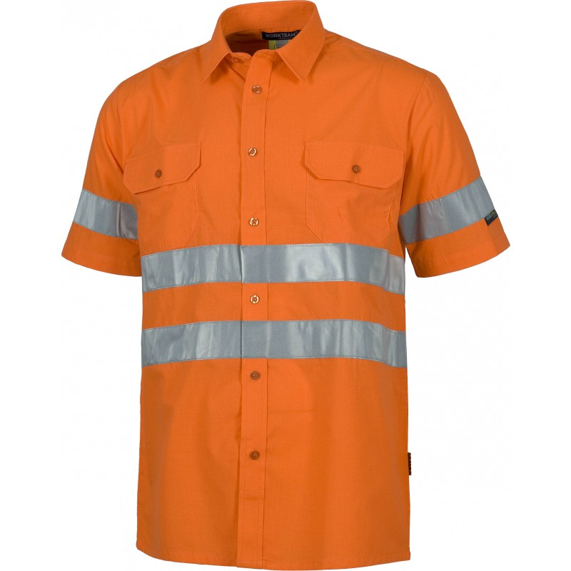 Camisa c3810 de manga corta cierre de botones_(1)