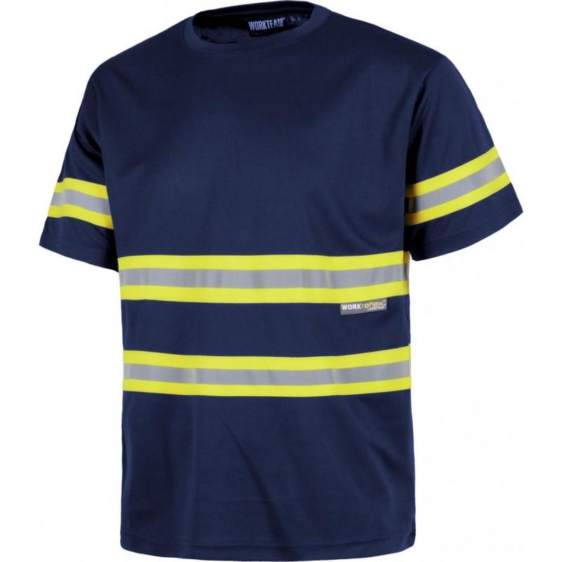Camiseta c3936 alta visibilidad manga corta workteam