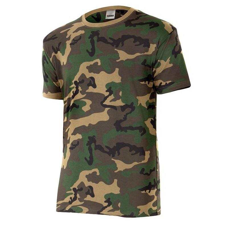 Camiseta camuflaje velilla 506