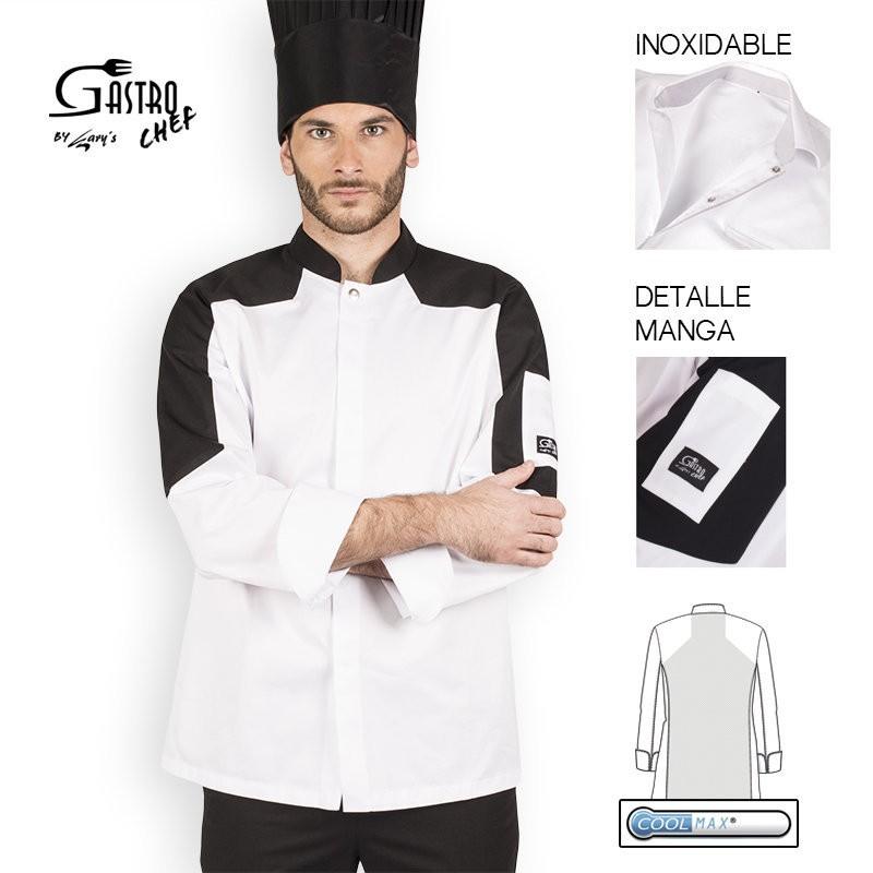 Casaca chef 9327 cosmo 100 algodon egipcio cool max garys