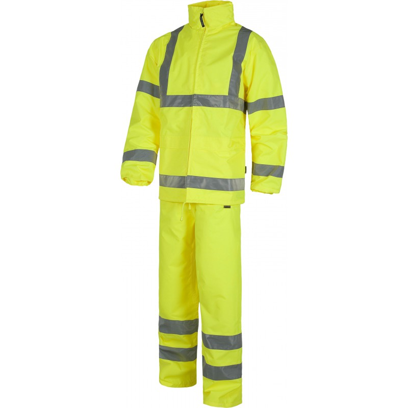 Conjunto s2010 chubasquero con capucha y pantalon workteam1