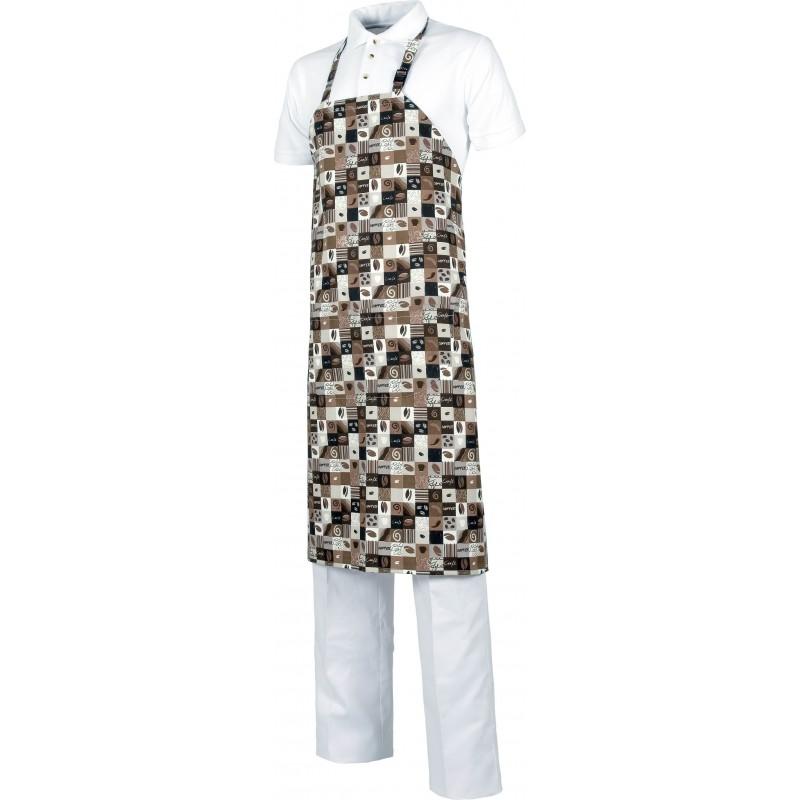 Delantal m519 con peto y un bolsillo workteam