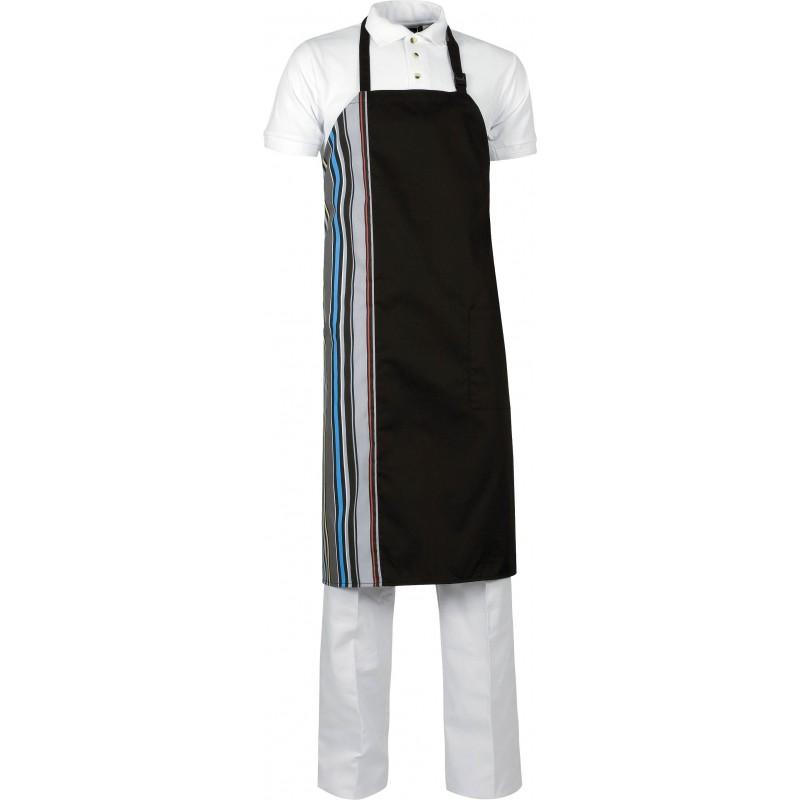 Delantal m538 bicolor con peto y un bolsillo workteam