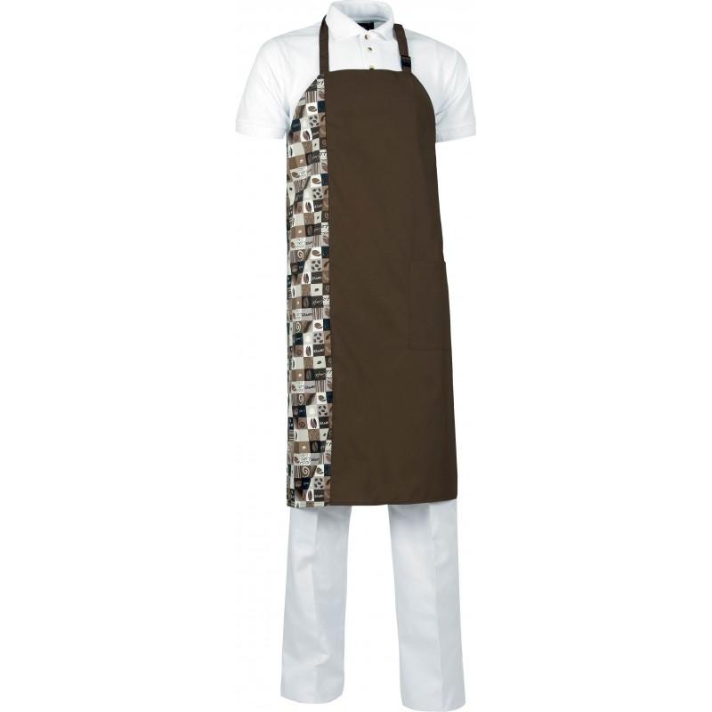 Delantal m539 bicolor con peto y un bolsillo workteam