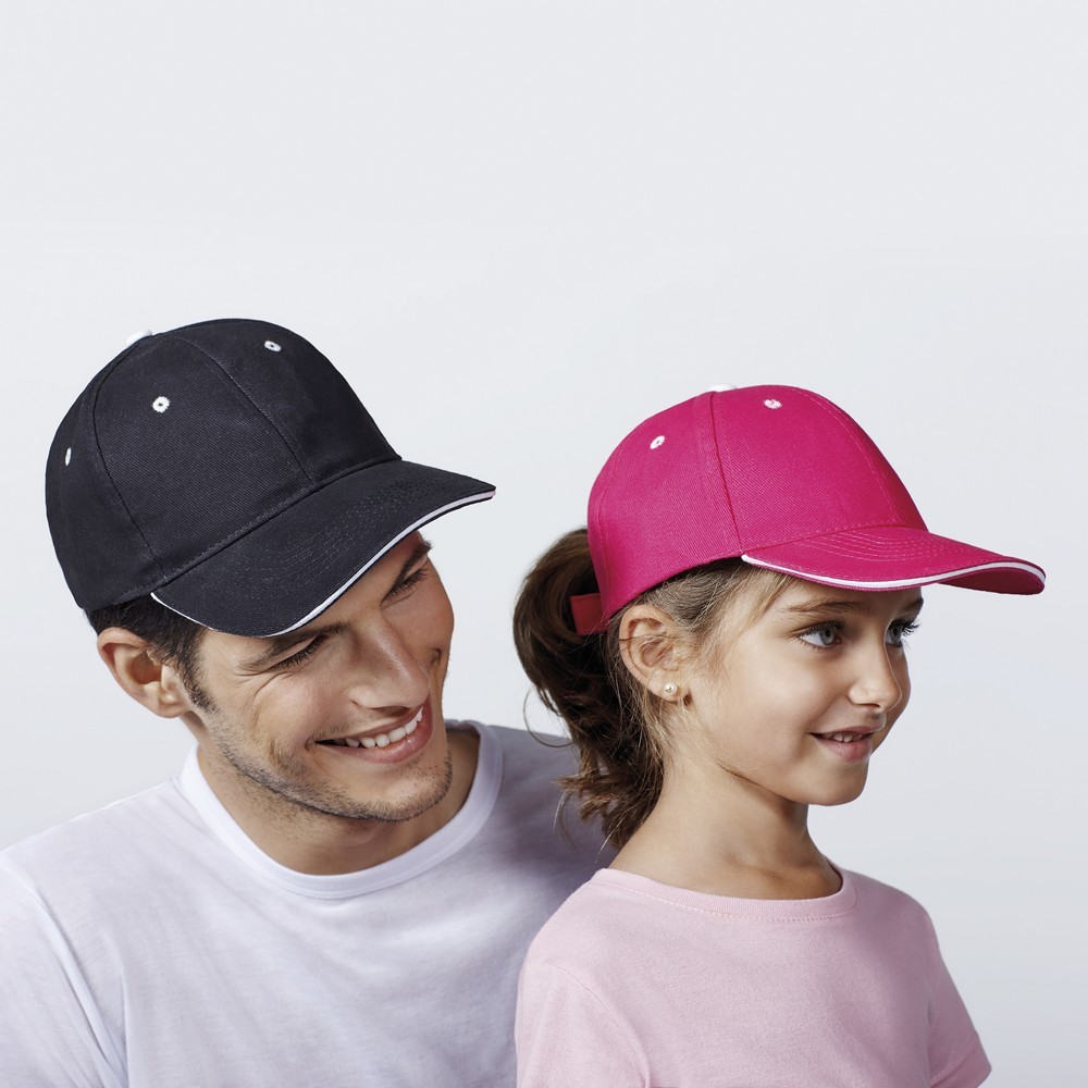 Gorra unisex panel adulto y junior 7008 roly
