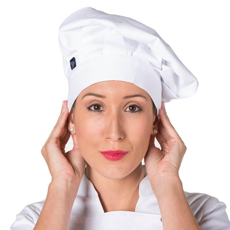 Gorro chef velcro blanco
