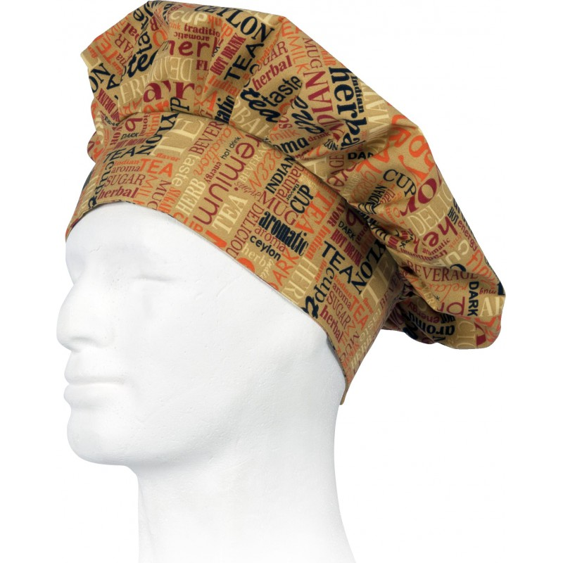 Gorro m613 de cocina estampado antimanchas workteam