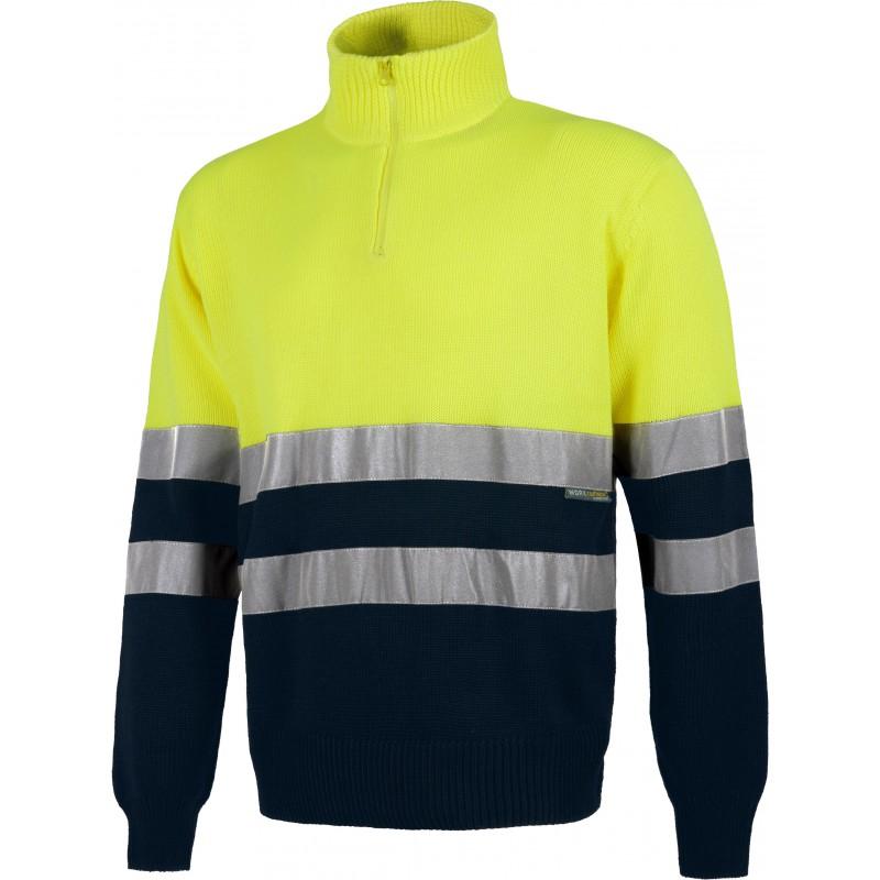 Jersey c5511 bicolor de alta visibilidad bandas reflectantes workteam