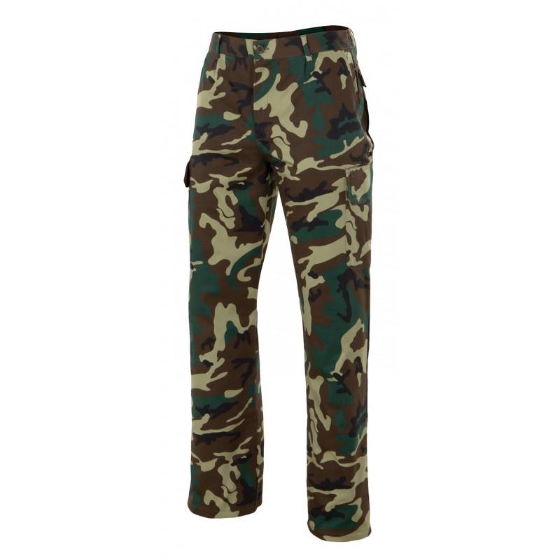 Pantalon 360 de camuflaje multibolsillos velilla