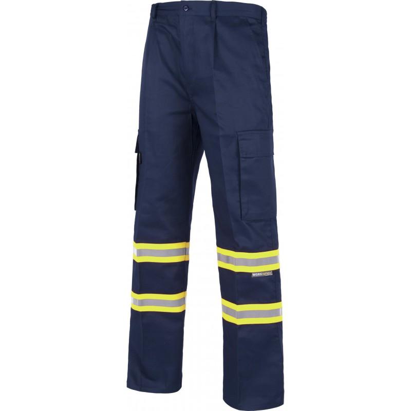 Pantalon b1436 alta visibilidad multibolsillos workteam