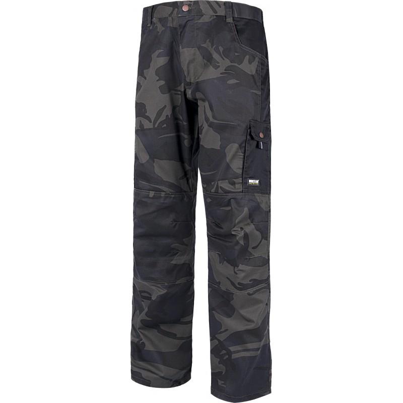Pantalon s8515 multibolsillos camuflaje workteam