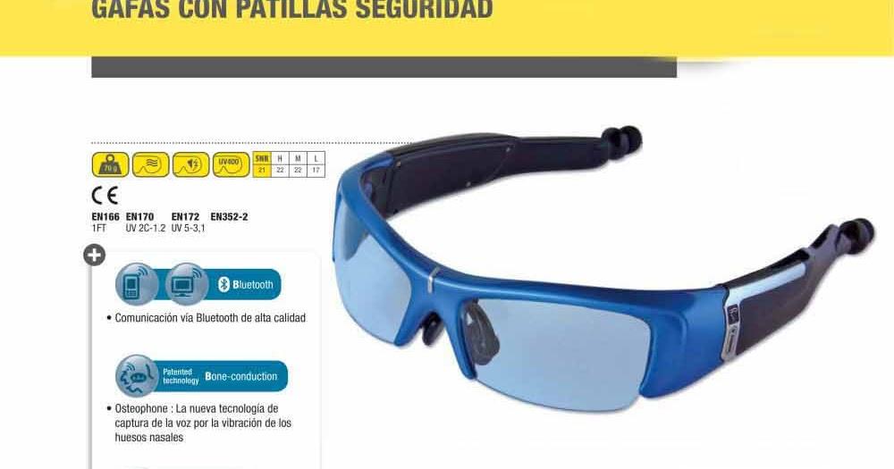Gafas de seguridad con bluetooth delta plus