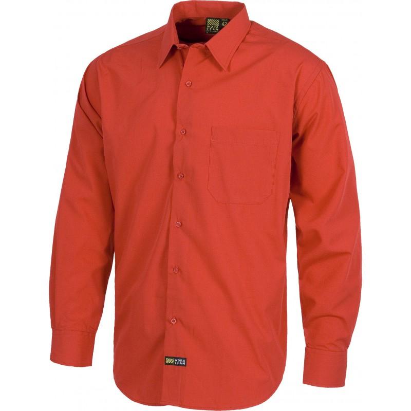 B8000 camisa de manga larga con cierre de botones