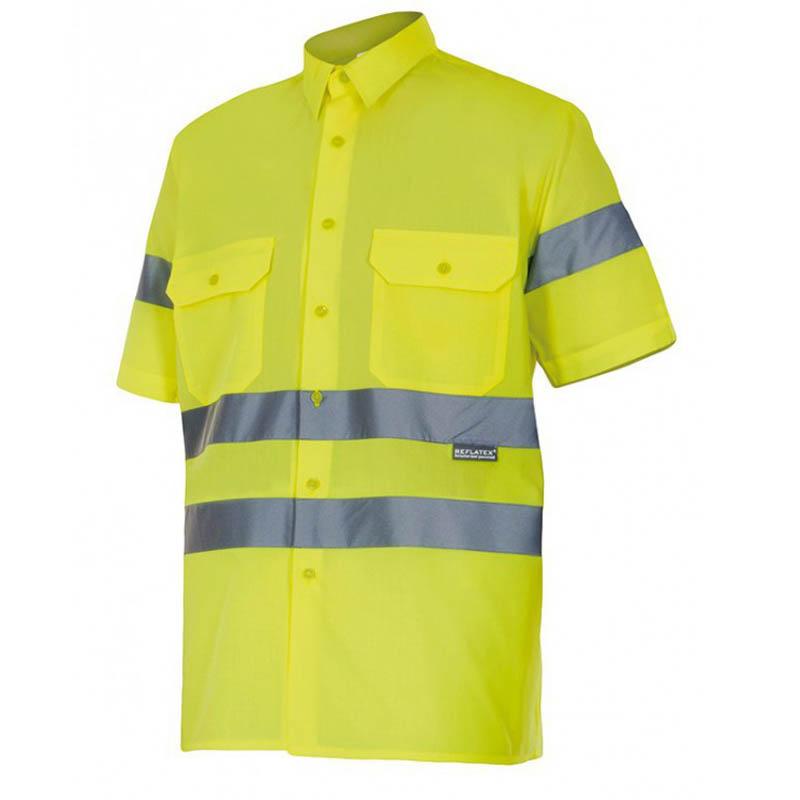 Camisa 141 alta visibilidad manga corta velilla