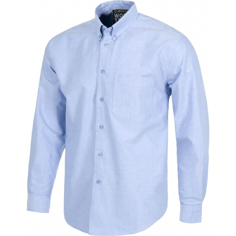 Camisa b8400 de manga larga tejido oxford workteam