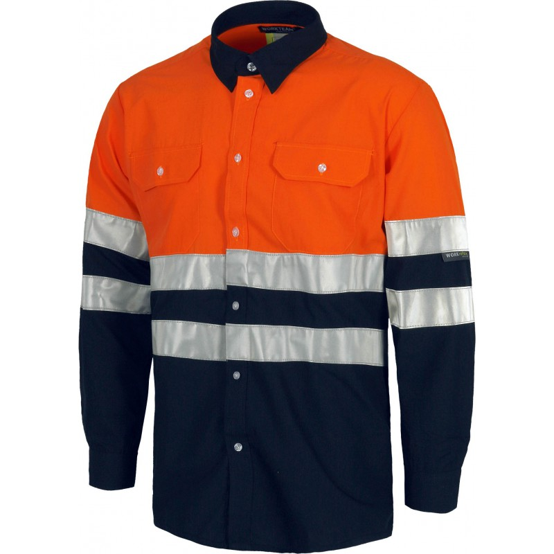 Camisa c3813 de manga larga cierre de botones_(1)
