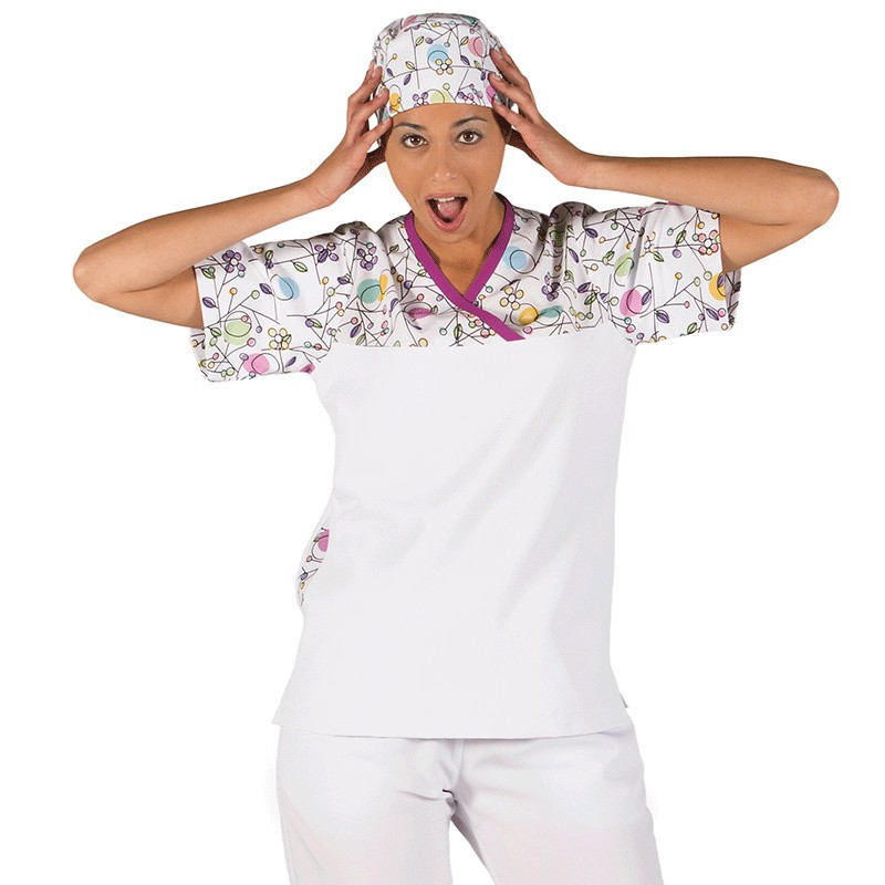 Casaca sanitario circulos 6095 manga corta unisex garys