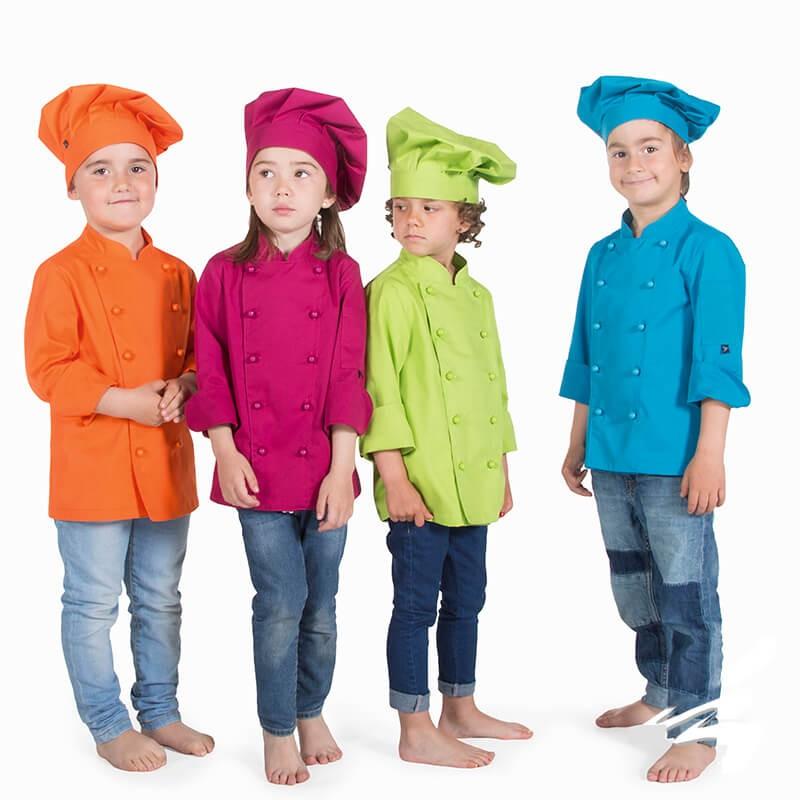 Chaqueta cocinero infantil colores