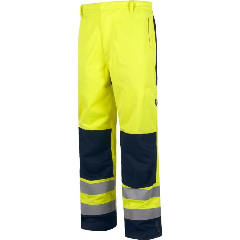 Pantalon alta visibilidad con refuerzos