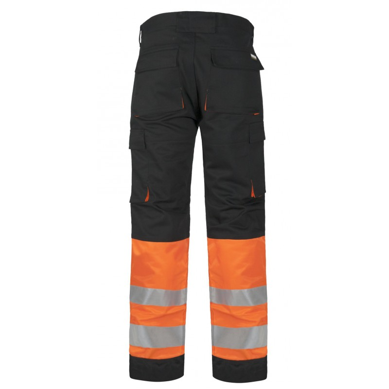 Pantalon c2918 de alta visibilidad reflectante multibolsillos workteam_(1)