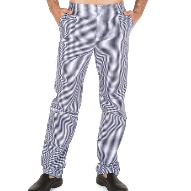 Pantalon vichy marino